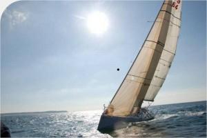 Le bateau de Nicolas jossier, skippeur Granvillais